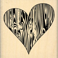 Coeur de Bois -  Wood Mounted Florilèges Design Stamp