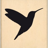 Hummingbird -  Wood Mounted Florilège Stamp