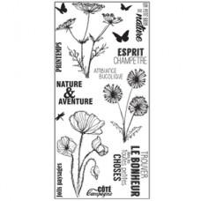 ESPRIT CHAMPETRE tampons transparents par Florilège