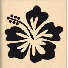 Hibiscus - Florilèges Design Tampon monté sur bois