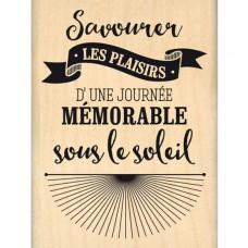 Journée sous le soleil - Wood Mounted Florilèges Design Stamp