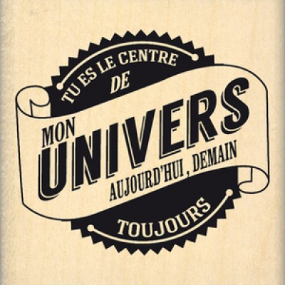 MON UNIVERS-  Wood Mounted Florilège Stamp