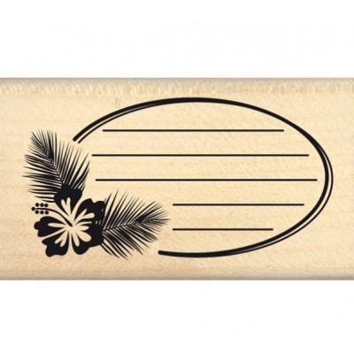 Ovale des tropiques - Florilèges Design Tampon monté sur bois