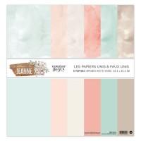 Plain printed papers by Florilèges Design - Collection 'Maison de Jeanne'