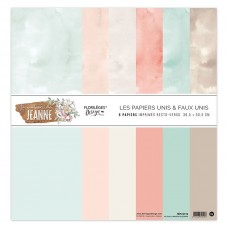 Plain printed papers by Florilèges Design - Collection 'Maison de Jeanne'