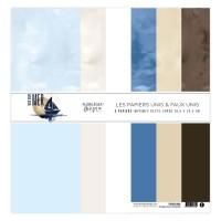 Plain printed papers by Florilèges Design - Collection scrapbooking Vue sur Mer