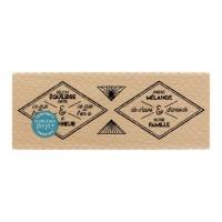Etiquettes losanges -  Wood Mounted Florilèges Design Stamp