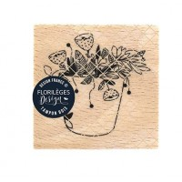 Fantaisies florales -  Wood Mounted Florilèges Design Stamp