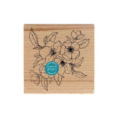 Apple Blossom (Fleurs de pommier) -  Wood Mounted Florilèges Design Stamp