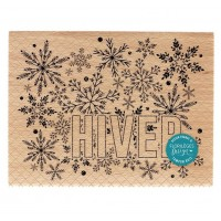 Grand Hiver -  Wood Mounted Florilèges Design Stamp