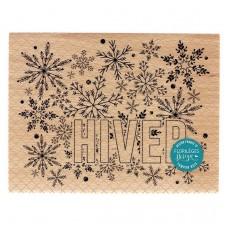 Grand Hiver -  Wood Mounted Florilèges Design Stamp