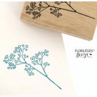 Gypsophile -  Wood Mounted Florilèges Design Stamp