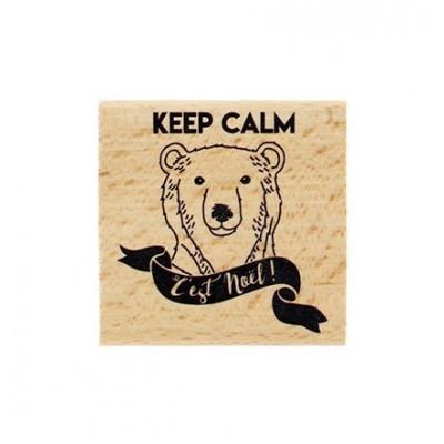 Keep calm c'est Noël -  Wood Mounted Florilèges Design Stamp