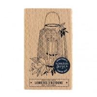 Lanterne automnale -  Wood Mounted Florilèges Design Stamp