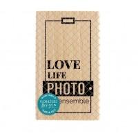 Love Life -  Wood Mounted Florilèges Design Stamp