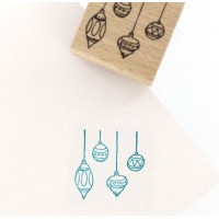 Mini boules -  Wood Mounted Florilèges Design Stamp