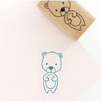 My little bear (Mon petit ourson) -  Wood Mounted Florilèges Design Stamp