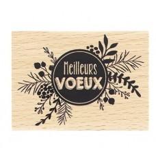 Pastille de Voeux -  Wood Mounted Stamp Florilèges Design