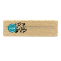 Lignes florales - Wood Mounted Florilèges Design Stamp