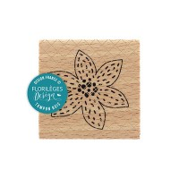 Fleur brodée blanche -  Wood Mounted Florilèges Design Stamp