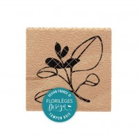 Feuillage Bicolore -  Wood Mounted Florilèges Design Stamp