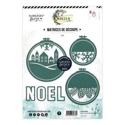 Florilèges Design Dies - Oh Winter CERCLES À BRODER D'HIVER - winter embroidery circles