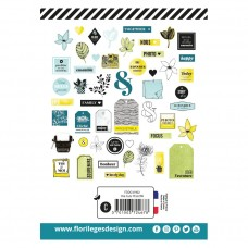 Yellow die cuts by Florilèges Design
