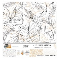 Collection of printed vellum papers by Florilèges Design - Or Saison