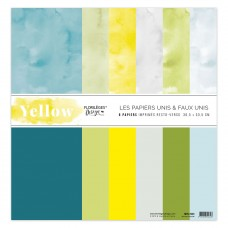 Plain printed papers by Florilèges Design - Collection 'Yellow'