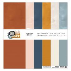 Collection of plain papers by Florilèges Design - Or Saison