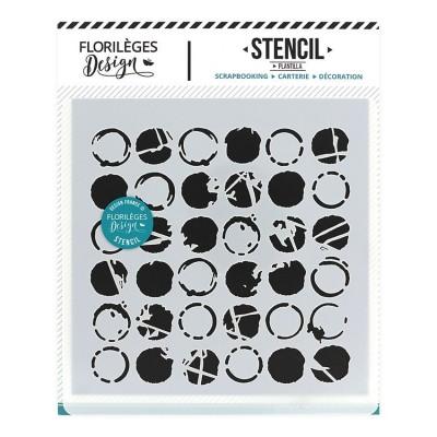 Multi Dots - Stencil 12 x 12cm by Florilèges Design
