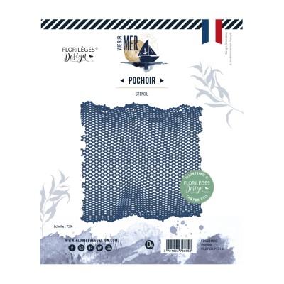 Fish net Filet de Pêche - Stencil by Florilèges Design