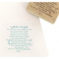 Mon ange -  Wood Mounted Florilèges Design Stamp