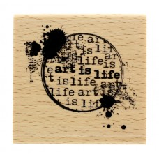 Art is life - Wood Mounted Florilèges Design Stamp