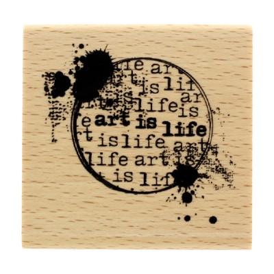 Art is life - Wood Mounted Florilèges Design Stamp