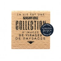 Collection d'images -  Wood Mounted Florilèges Design Stamp