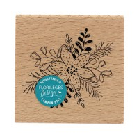 Fleur accompagnée -  Wood Mounted Florilèges Design Stamp