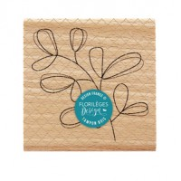 Feuillage simplissime -  Wood Mounted Florilèges Design Stamp