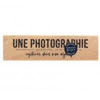 Dans mon objectif -  Wood Mounted Florilèges Design Stamp