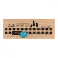 Enjoy Winter Life -  Wood Mounted Florilèges Design Stamp