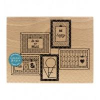 5 cadres -  Wood Mounted Florilèges Design Stamp