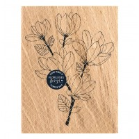 Magnolia Branch -  Wood Mounted Florilèges Design Stamp