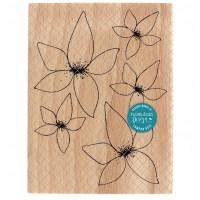 Floralies -  Wood Mounted Florilèges Design Stamp