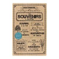 SOUVENIRS À CULTIVER Wood Mounted Florilège Stamp