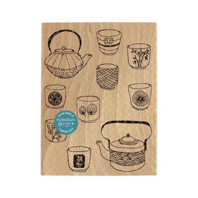 Chanoyu - Wood Mounted Florilèges Design Stamp