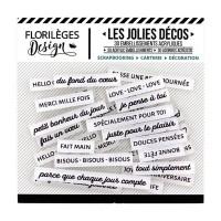 Florileges Design Décos - Mots Doux (kind words) Edelweiss