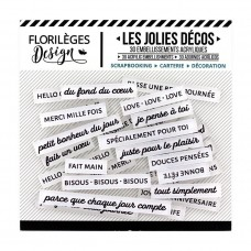 Florileges Design Décos - Mots Doux (kind words) Edelweiss