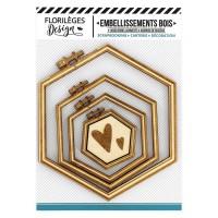 Wooden embellishments SUPPORTS À BRODER HEXAGONES