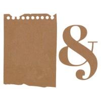 Florilèges Design Dies - Outils de découpe GRAND FEUILLET avec esperluette