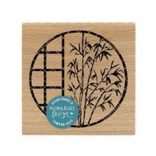Fenêtre au bambou (bamboo window) - Wood Mounted Florilèges Design Stamp